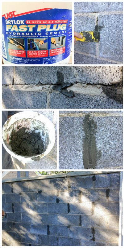 Painting cinder block for Cleaning concrete walls