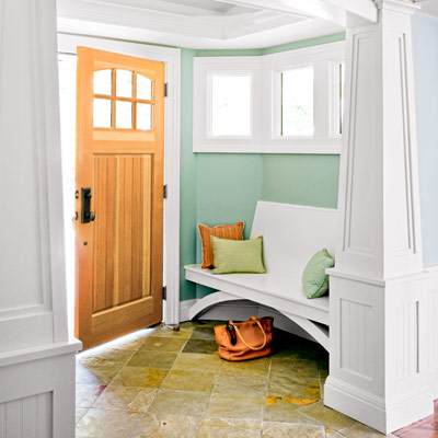 This Old House - entry bench window seat via @remodelaholic