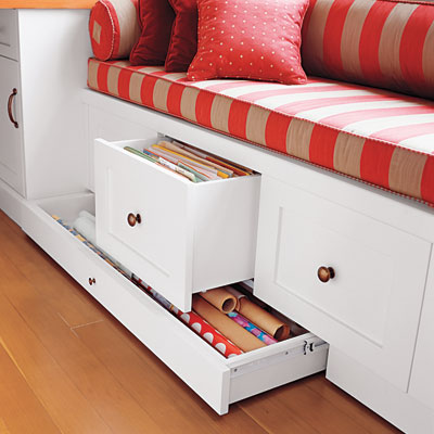 This Filing Cabinet Window Seat Isnu0027t Quite As Snazzy As The Previous One,  But It Would Be An Easier Job To Retrofit An Existing Window Seat With A  System ...