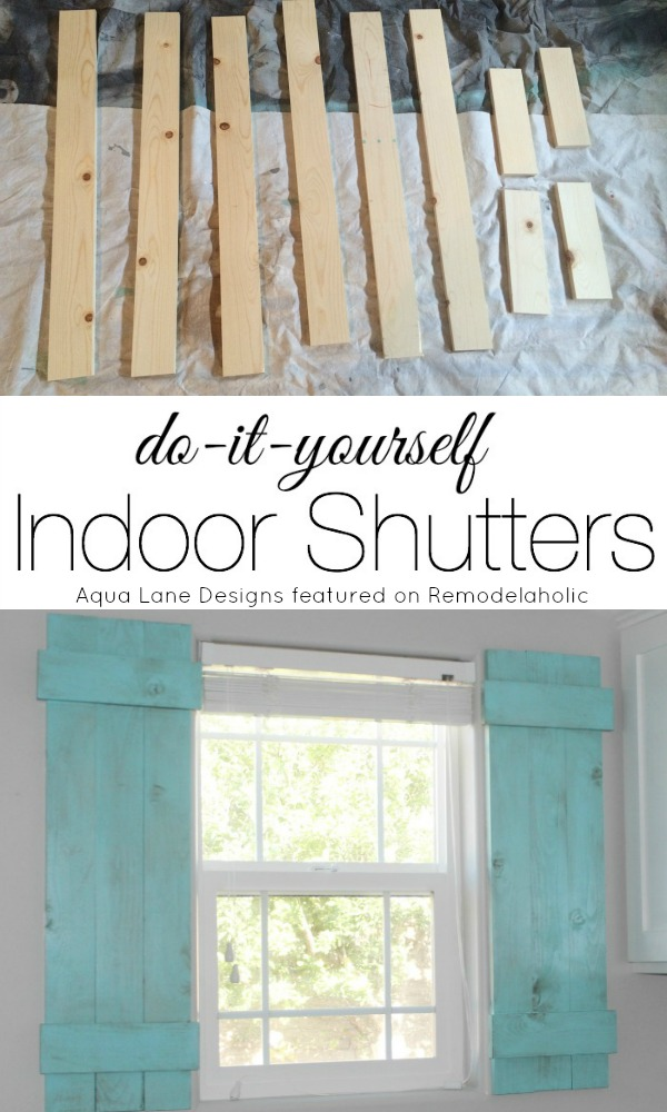 Remodelaholic diy interior window shutters for under 20 for Interior window shutter designs