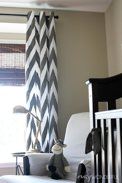 Westerman Fam - diy stencil for modern chevron curtains - via Remodelaholic