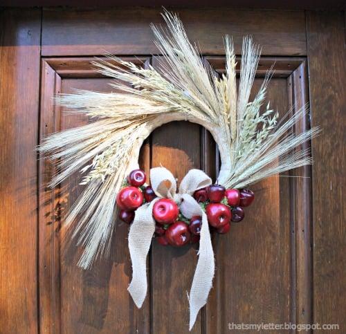 apple wheat wreath
