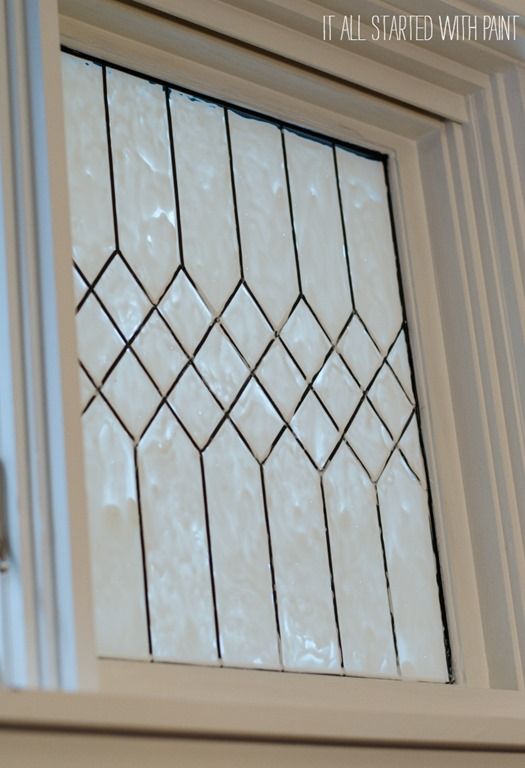 apply top coat to faux leaded glass window, It All Started With Paint on Remodelaholic