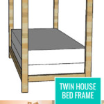 Build A Twin House Bed Frame, Easy Woodworking Plans Remodelaholic