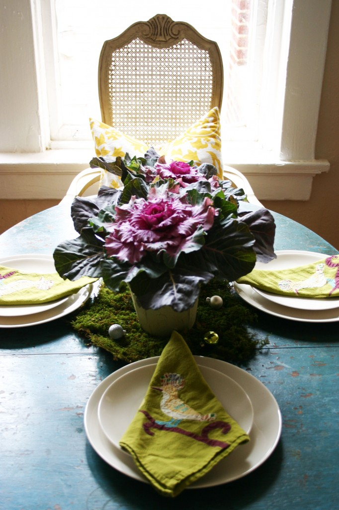 cabbages centerpiece