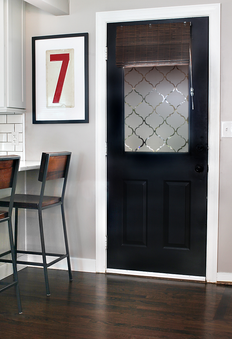 remodelaholic diy window privacy film using contact paper. Black Bedroom Furniture Sets. Home Design Ideas