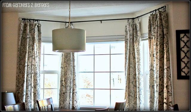 Remodelaholic 45 DIY Painted Curtain Styles