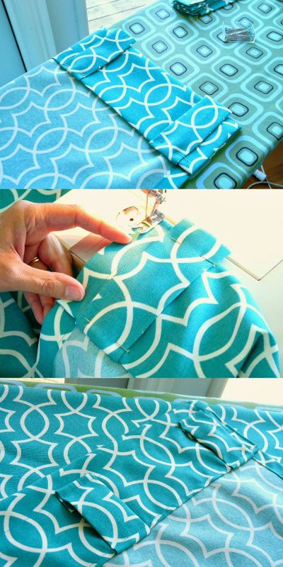 diy back tab curtains 02, Dans le Lakehouse on @Remodelaholic