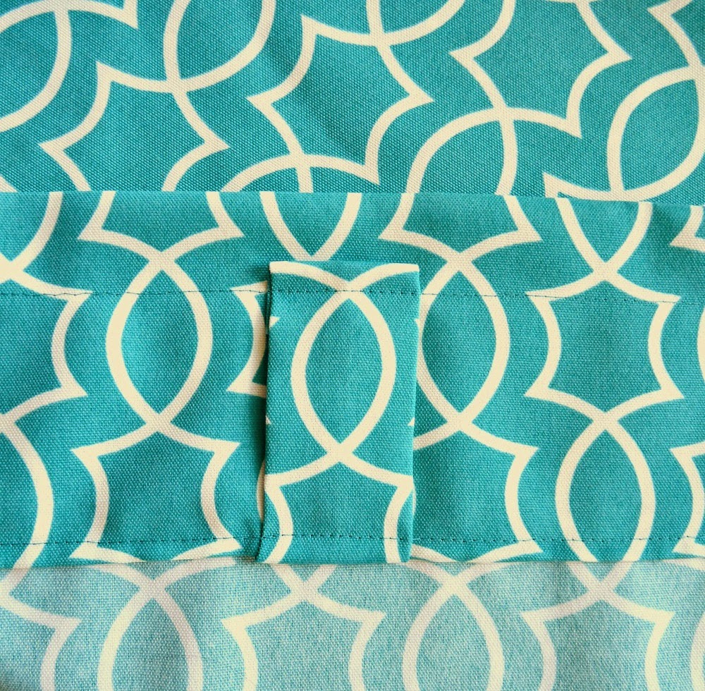 Remodelaholic | Simple Sewn Back Tab Curtains
