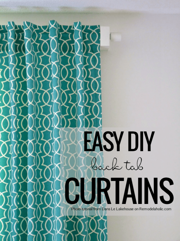 Make your own custom back tab curtains from any fabric you love with this detailed photo tutorial at Remodelaholic.com
