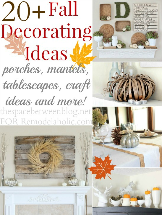 Fall Decorating Ideas shared by thespacebetweenblog.net on Remodelaholic.com #Fall #Decorating #FallDecoratingIdeas