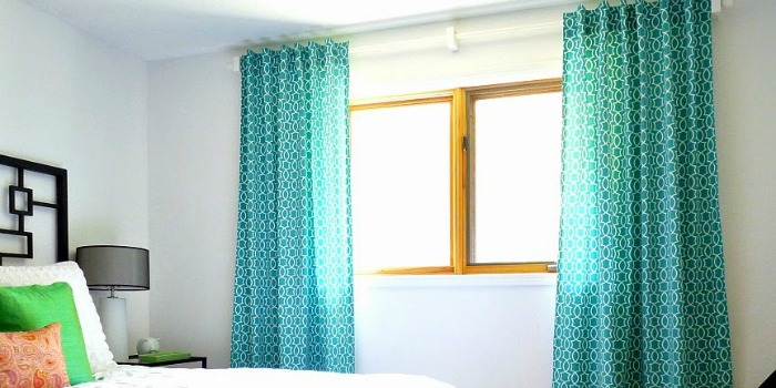 Simple Sewn Back Tab Curtains