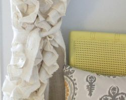 feature ruffled burlap curtains tutorial, The Caldwell Project on Remodelaholic