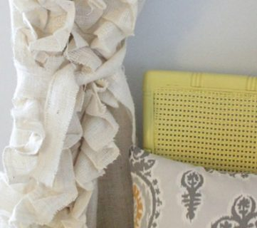 How to Sew Ruffled Burlap Curtains