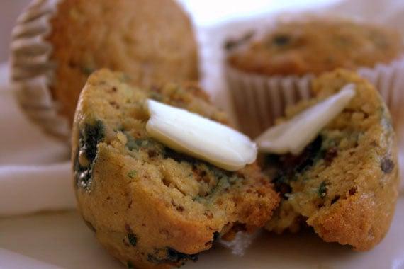 Zucchini Blueberry Whole Wheat Muffins