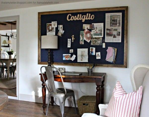 giant bulletin board family organization wall station