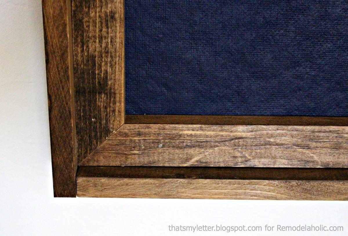giant framed bulletin board detail