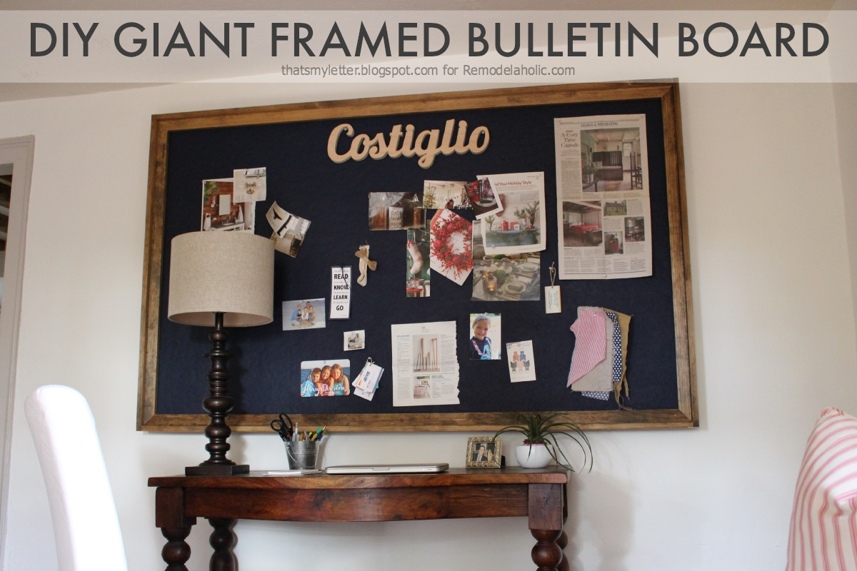 Remodelaholic build a giant bulletin board for under 50 for How to make a bulletin board wall