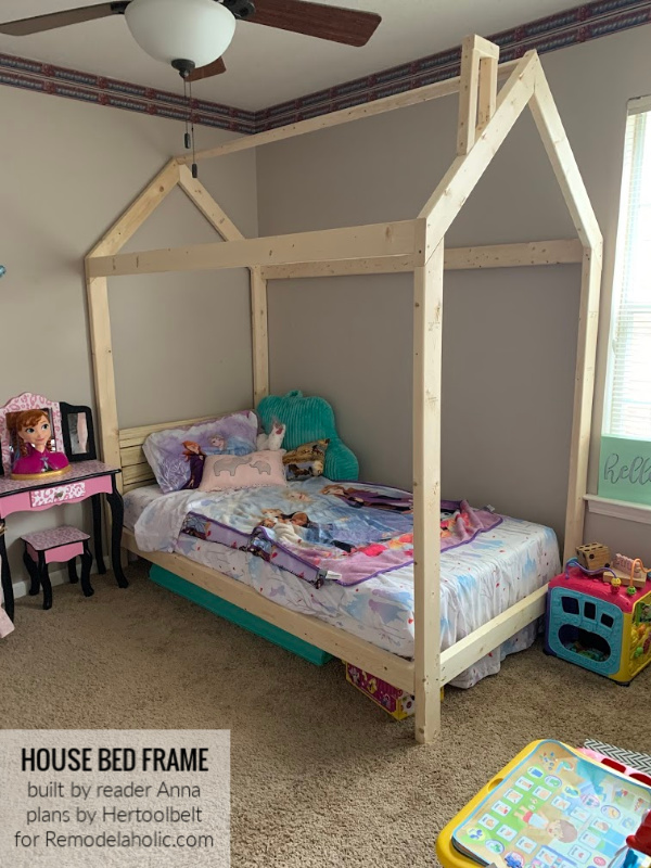 House Bed Frame Twin By Reader Anna Remodelaholic WM