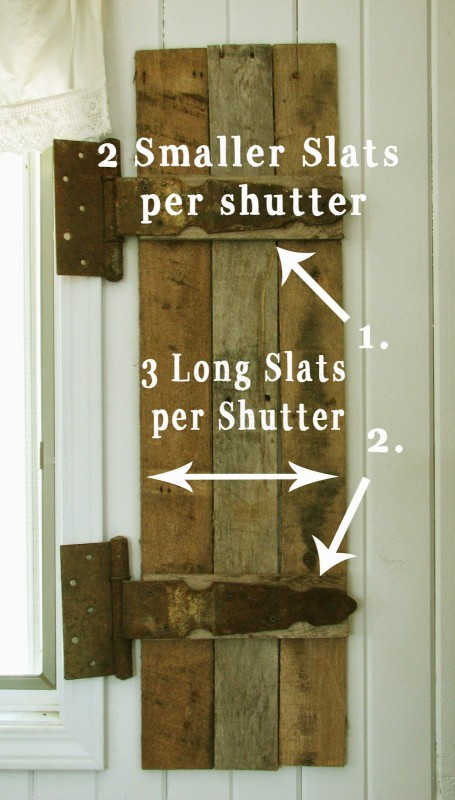 Remodelaholic build rustic barn wood shutters from pallets - How to make wood shutters exterior ...