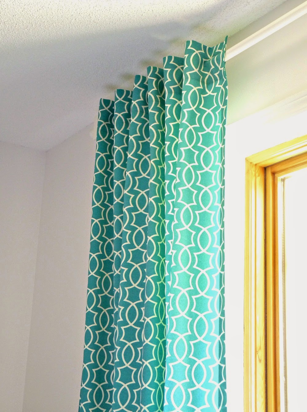 How to make tab top curtains - How To Make Simple Back Tab Curtains In A Modern Retro Pattern Dans Le Lakehouse