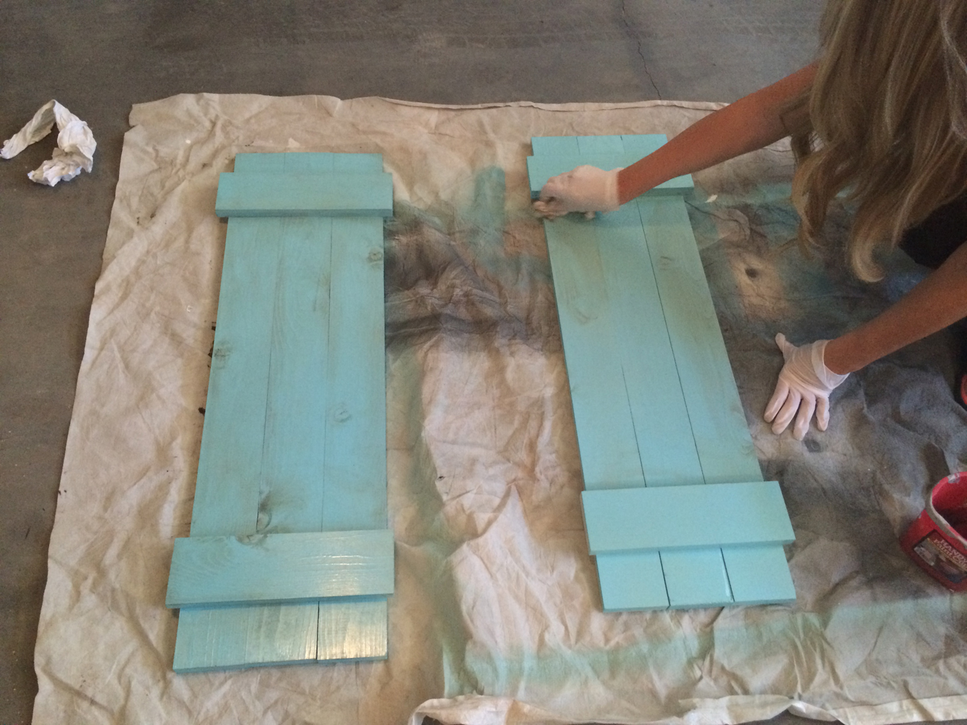 How To Paint And Stain Indoor Shutters, Aqua Lane Designs On Remodelaholic