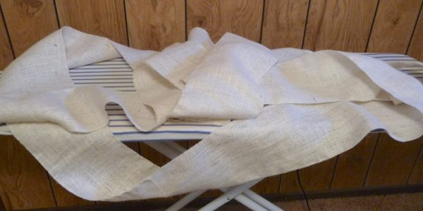 how to pleat burlap, The Caldwell Project on Remodelaholic