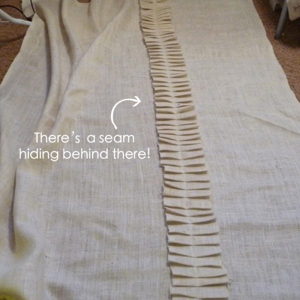 how to sew a ruffled burlap curtain, The Caldwell Project on Remodelaholic