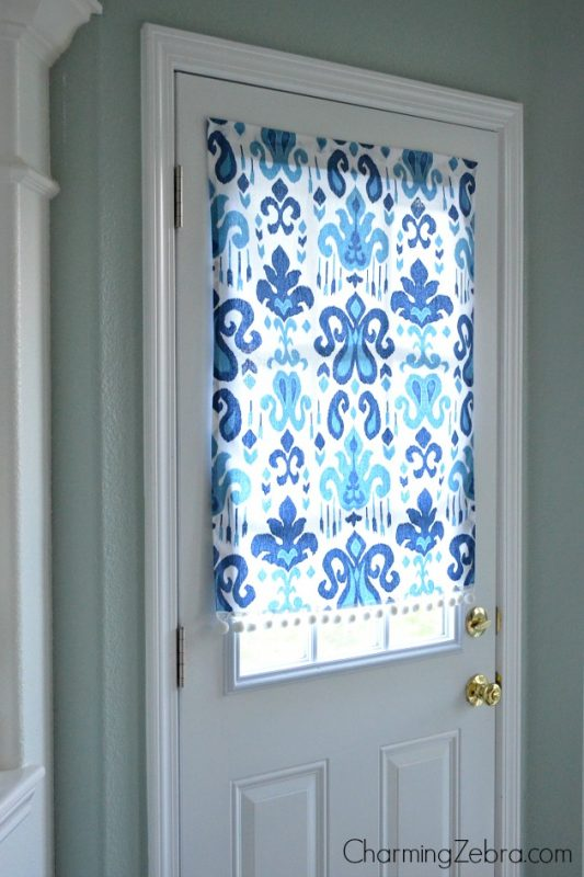 Remodelaholic No Sew Magnetic Window Covering