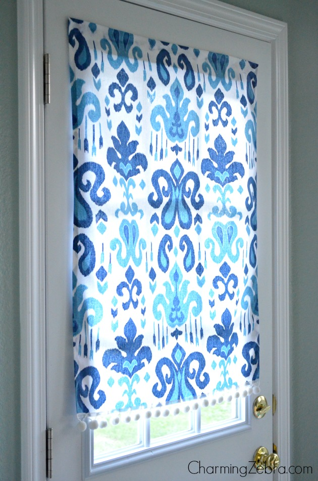 no sew window treatments fabric diy magnetic nosew window blind charming zebra on remodelaholic nosew magnetic window covering