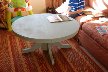 Remodelaholic Diy Simple Wood Slab Coffee Table