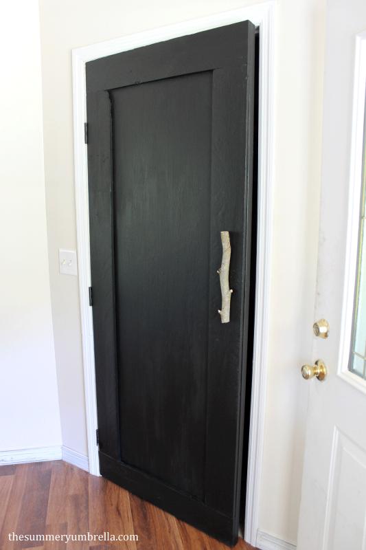 reclaimed wood paneled door, The Summery Umbrella