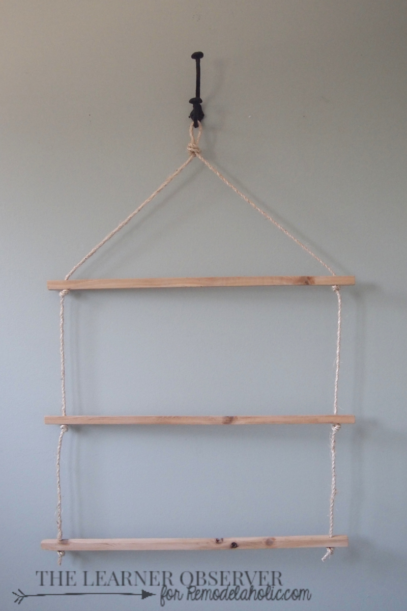 Remodelaholic Multi Functional Decorative Rope Ladder