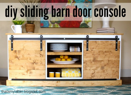 sliding barn door console