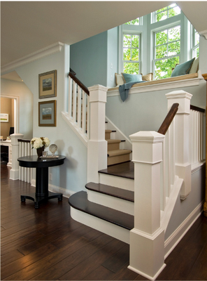 staircase window seat via remodelaholic - Beautiful Window Seats