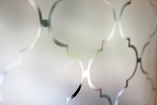 trellis privacy window film using contact paper