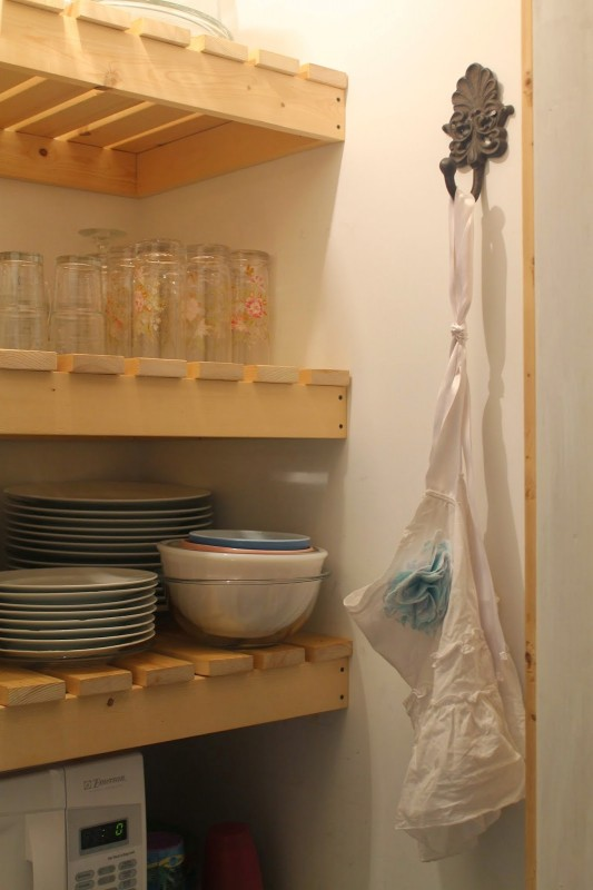 use a hook for plastic bags, barn door pantry, Girl Meets Carpenter on @Remodelaholic