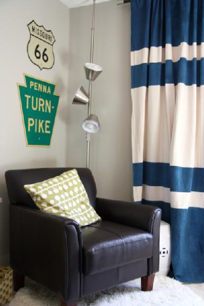 via DecorPad - striped curtains - via Remodelaholic