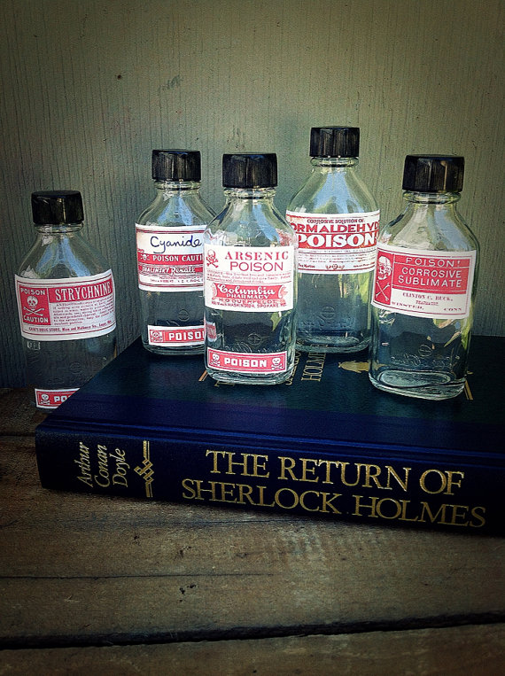 Halloween Poison Bottles