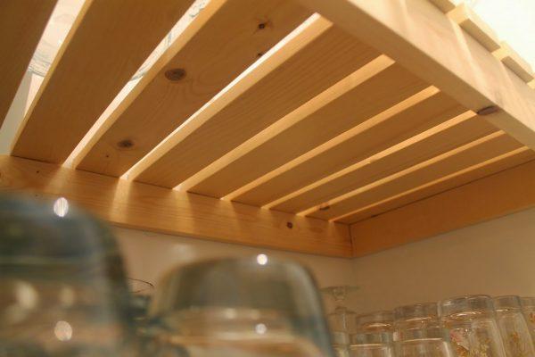 wood slat pantry shelving diy, Girl Meets Carpenter on @Remodelaholic