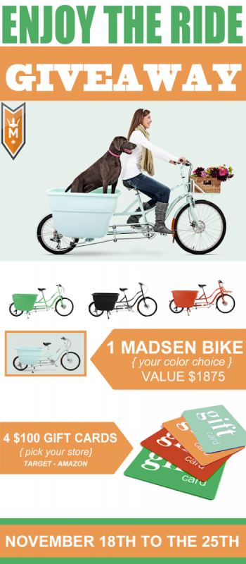 AWESOME giveaway! Win this bike plus $400 in gift cards!