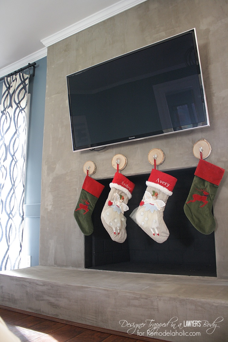 remodelaholic how to hang stockings without a mantel