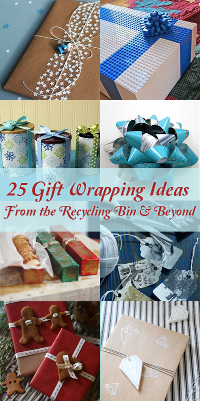 25 Upcycled and Low-Cost Gift Wrapping Ideas @Remodelaholic #christmas
