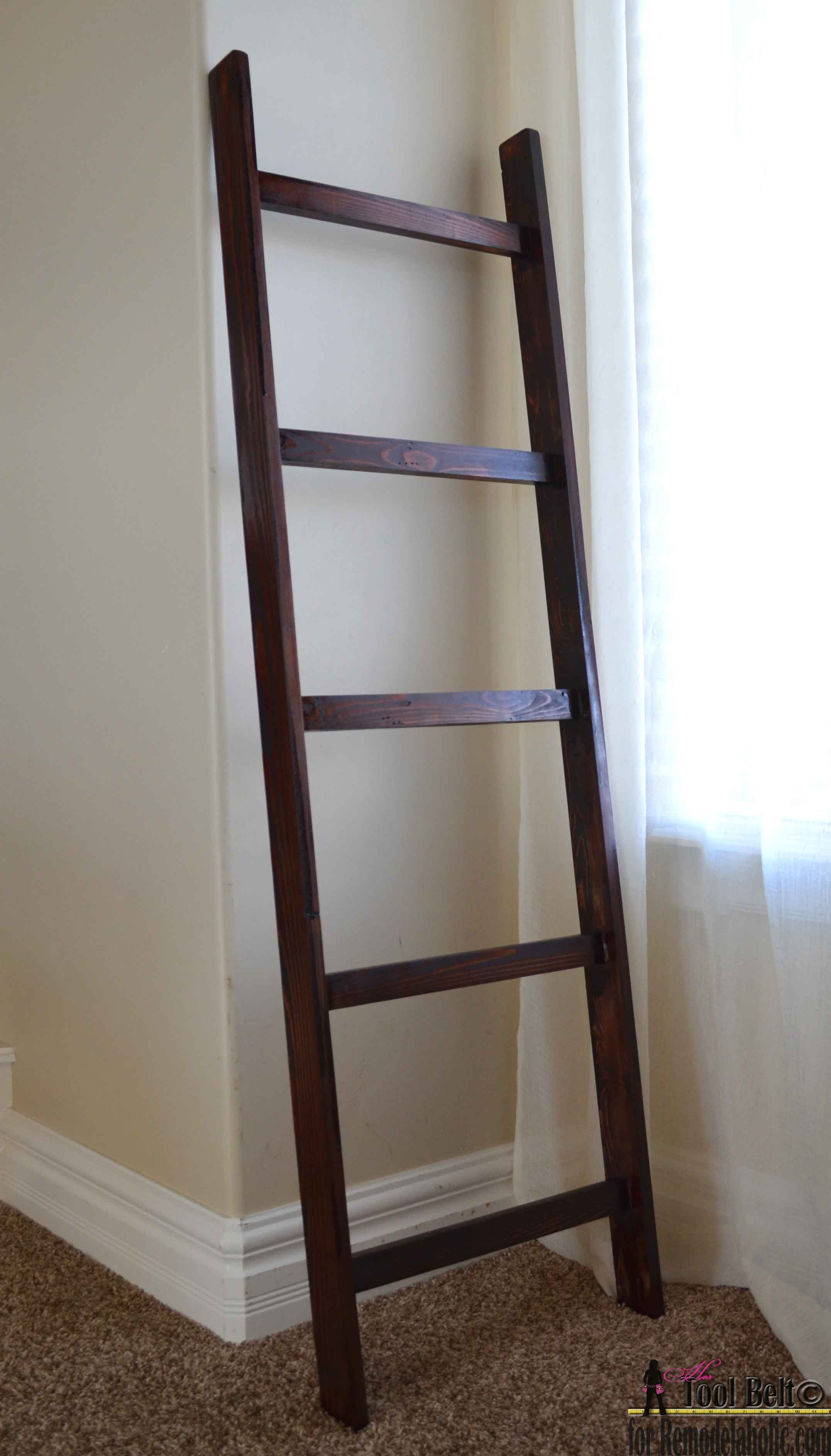 Zebra decor living room - Remodelaholic Build An Easy Blanket Ladder For Just 5