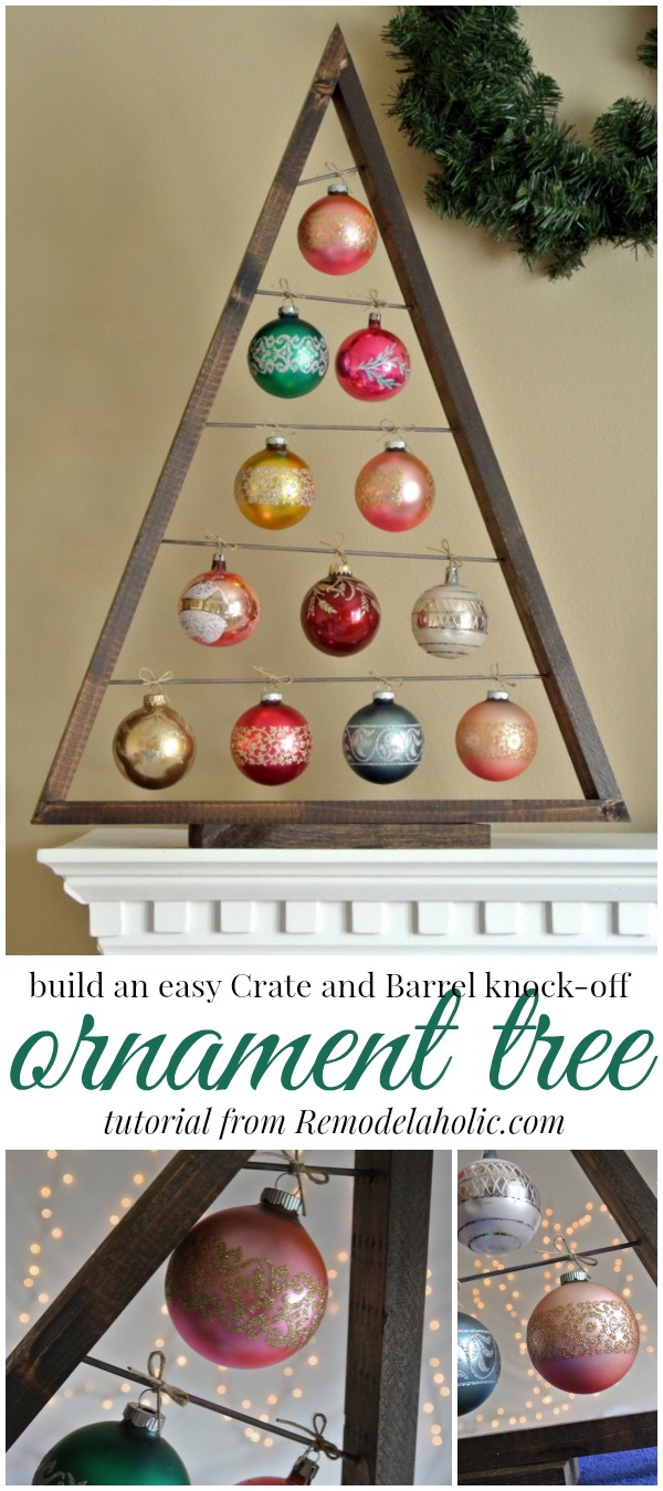 Good Christmas Ornament Display Part - 10: Build An Easy Ornament Display Tree @Remodelaholic #christmas #holidaydecor