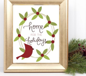 Home for the Holidays Christmas Printable