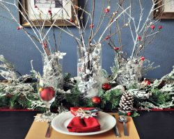 Christmas Tablescape  SAwdust2stitches for remodelaholic feature image  - Copy