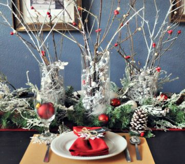 Pottery Barn Holiday Tablescape for Dollar Tree Price