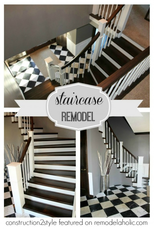 Curved Staircase Remodel - Construction2Style via @Remodelaholic