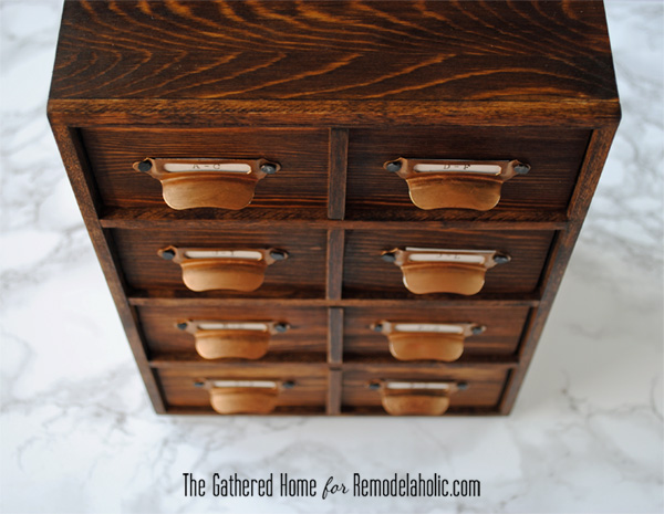 Diy miniature card catalog storage box remodelaholic bloglovin what do you think wouldnt this make a great gift for a vintage lover or yourself no judgement if you decide to keep it let me know if you make one solutioingenieria Choice Image